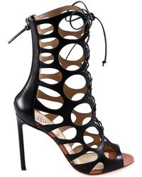 Francesco Russo - Cut Ankle Boot Sandals - Lyst