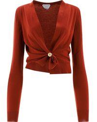 Bottega Veneta Ring Detail Cardigan - Red