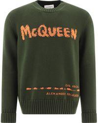 Alexander McQueen Logo Knit Sweater - Green