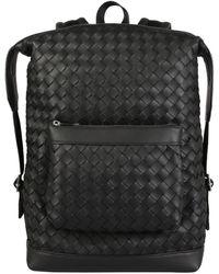 Bottega Veneta Intrecciato Backpack - Black