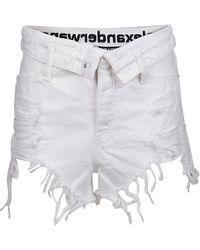 Alexander Wang Women's 4dc1204685100 White Other Materials Shorts