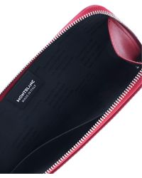 Montblanc Sartorial Zipped Clutch Bag - Red