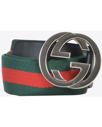 Gucci GG Striped Belt - Multicolour