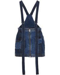 DIESEL Denim Dungaree Skirt - Blue