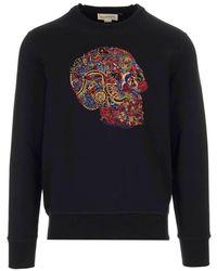 Alexander McQueen Embroidered Skull Sweatshirt - Black