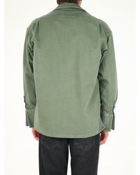 Greg Lauren Military Oversize Shirt - Green