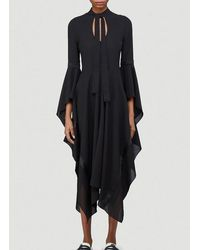 JW Anderson Fluted Sleeve Dress - Black