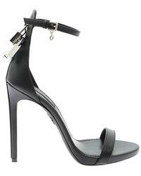 DSquared² Padlocks Detail Sandals - Black