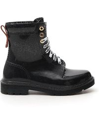 See By Chloé Varnished Lace-up Boots - Black