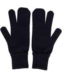 Maison Margiela Knitted Tabi Gloves - Blue