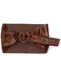 The Attico Snakeskin Print Waist Belt - Brown