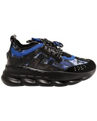 Versace Chain Reaction Low-top Trainers - Blue