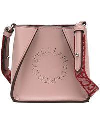 Stella McCartney Logo Micro Crossbody Bag - Pink