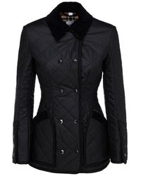 Burberry Diamond Quilted Riding Jacket - Black