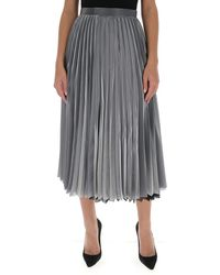 Junya Watanabe Pleated Midi Skirt - Metallic