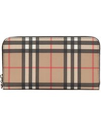 Burberry Vintage Check Zip Around Wallet - Multicolour
