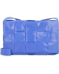 Bottega Veneta Intrecciato Crossbody Bag - Blue