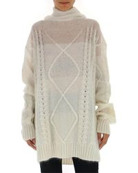 Maison Margiela Cable-knit Sweater - White