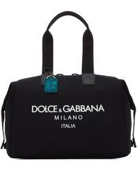 Dolce & Gabbana Logo Print Duffle Bag - Black