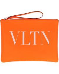 Valentino Garavani Vltn Clutch Bag - Orange