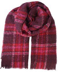 Woolrich Plaid Print Scarf - Red