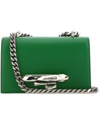 Alexander McQueen Sculptural Mini Jewelled Satchel Bag - Green