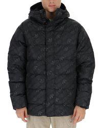 adidas Originals Allover Logo Printed Puffer Jacket - Black