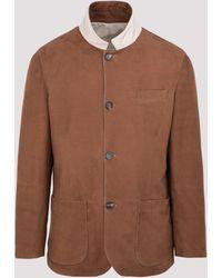 Brunello Cucinelli Reversible Buttoned Jacket - Multicolor