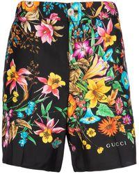 Gucci Floral Print Shorts - Multicolour