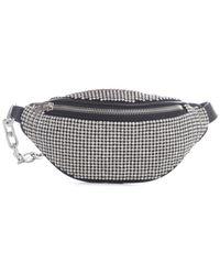 Alexander Wang Attica Rhinestone Mini Belt Bag - Metallic