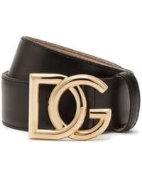 Dolce & Gabbana Dg Millennials Buckle Belt - Black