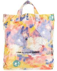 Comme des Garçons Multicolour Cotton And Pvc Shopping Bag Uomo