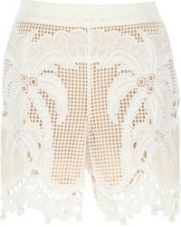 Zimmermann Floral Shorts - Natural