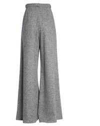 Lanvin High-rise Wide Leg Pants - Grey