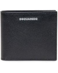 DSquared² Logo Plaque Bifold Wallet - Black