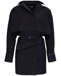 Jacquemus La Robe Terraio Dress In Black Jersey