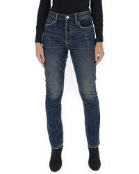 Current/Elliott - Skinny Faded Jeans - Lyst