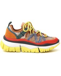Chloé Blake Leather-trimmed Trainers - Multicolour