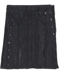 Ann Demeulemeester Buttoned Sheer Mini Skirt - Black