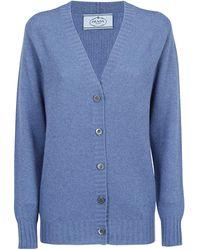 Prada Button-up V-neck Cardigan - Blue