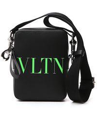 Valentino Small Vltn Crossbody Bag - Black