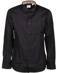 Burberry Monogram Logo Slim-fit Shirt - Black
