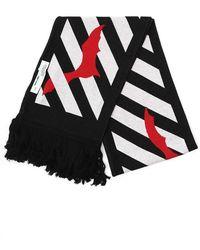 Off-White c/o Virgil Abloh - Striped Bat Logo Scarf - Lyst