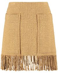 Pinko Tweed Mini-skirt - Natural