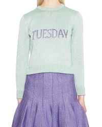 Lyst Alberta Ferretti All Weeks Day Sweater In Blue