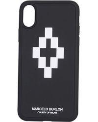 Marcelo Burlon Cross 3d Iphone X Cover - Black