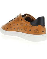 MCM Visetos Print Sneakers - Brown