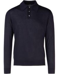 Prada Knitted Polo Shirt - Blue