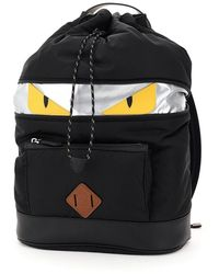 Fendi Ff Nylon Bag Bugs Backpack - Black
