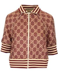 Gucci GG Supreme Print Jacket - Red